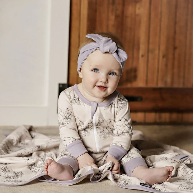 Aster and Oak - Bunny Zip Romper