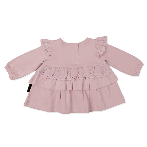 Aster and Oak - Rose Lace Ruffle Top