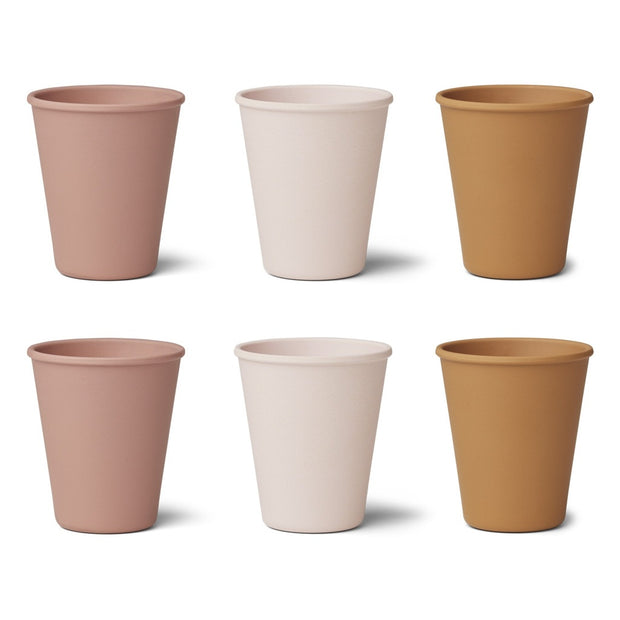 Liewood - 6 Pack Gertrud Bamboo Cups - Coral Blush Mix