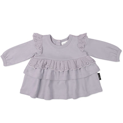 Aster and Oak - Lavender Lace Ruffle Top