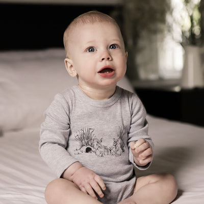 Aster and Oak - Burrow Print Onesie