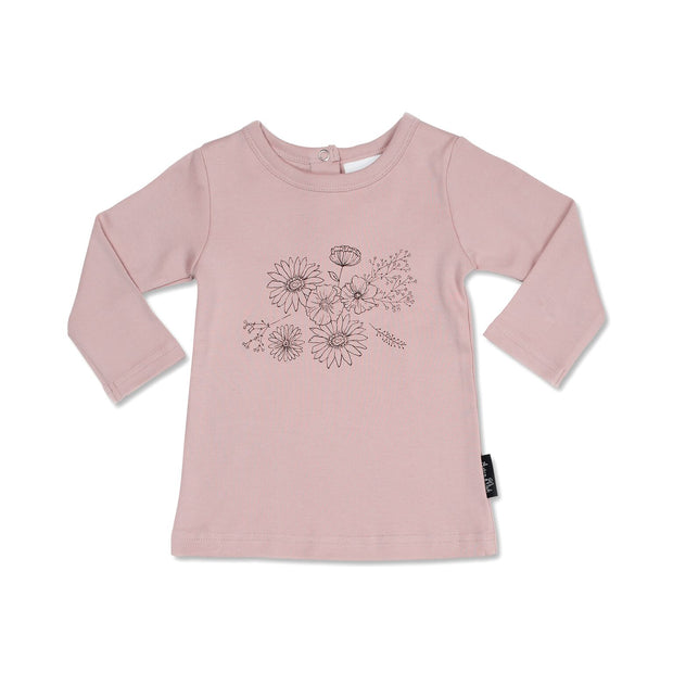 Aster and Oak - Floral Print Long Sleeve Tee