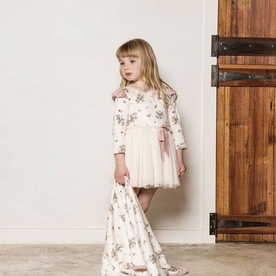 Aster and Oak - Vintage Floral Tutu Bow Dress