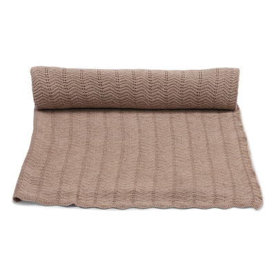 Konges Slojd - Blanket Pointelle Deux - Brown Melange