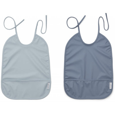 Liewood - Lai Bib 100% Recycled Polyester - Blue Mix