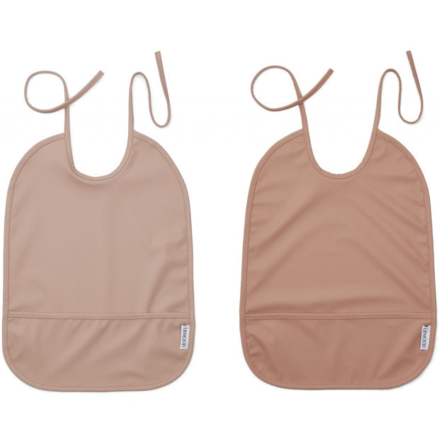 Liewood - Lai Bib 100% Recycled Polyester - 2 Pack Rose Mix