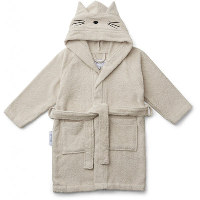 Liewood - Lily Bathrobe - Cat Sandy