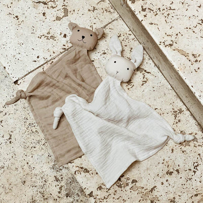 Liewood - Yoko Mini Cuddle Cloth - 2 Pack - Sandy/ Stone Beige