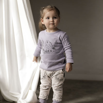 Aster and Oak - Bunny Print Long Sleeve Tee
