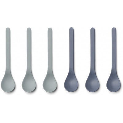 Liewood - 6 Pack Etsu Bamboo Spoon - Blue Mix