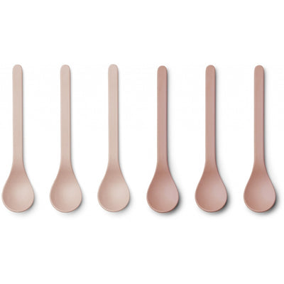 Liewood - 6 Pack Etsu Bamboo Spoon - Coral Blush Mix