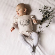 Aster and Oak - Bunny Print Flutter Onesie
