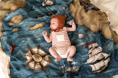 The Treasure Map Swaddle - Pop Ya Tot