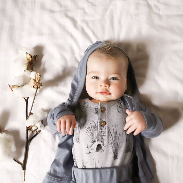 Aster and Oak - Burrow Henley Onesie