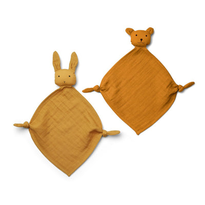 Liewood - Yoko Mini Cuddle Cloth - 2 Pack - Yellow Mix