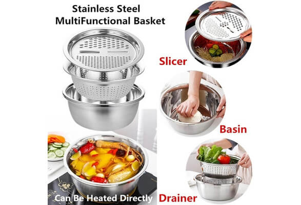 Stainless Steel Basin Set