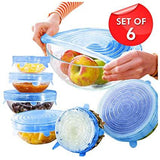 6pcs Stretch & Fit Food Grade Silicone Cover