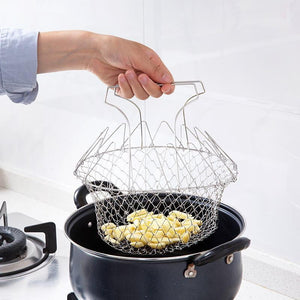 Chef Basket™ Folding Drain Basket - kitchandme