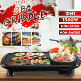 2 in 1 Korean Electric Grill and Hotpot