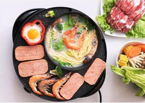 Korean Style 2in1 Smokeless Hotpot & Barbecue Grill - kitchandme