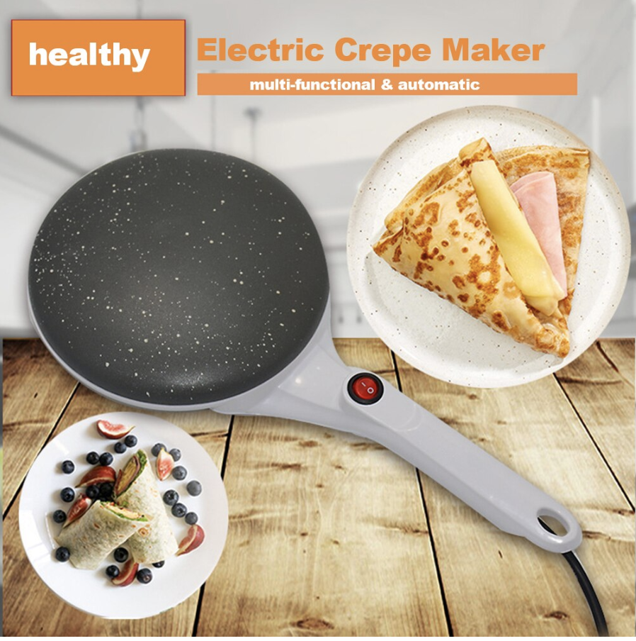 Electric Pancake Crepe Maker + Free 1Pair Magic Dishwashing Gloves