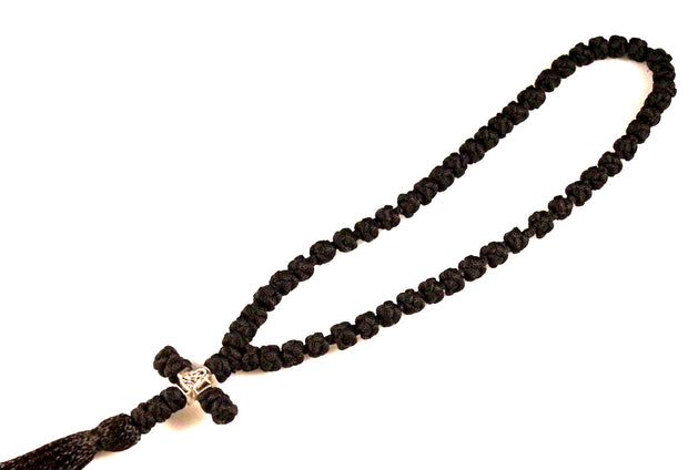 50 Knots Orthodox Prayer Rope with Cross and Tassel - anastasisgiftshop.com