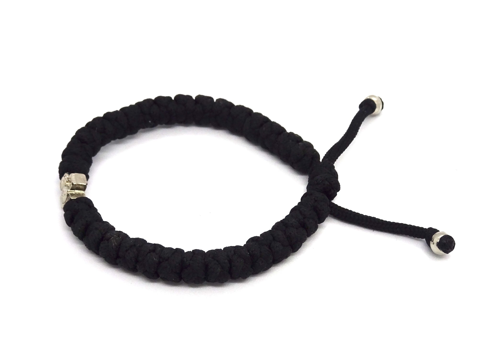 Adjustable Orthodox Black Prayer Rope with 33 Knots