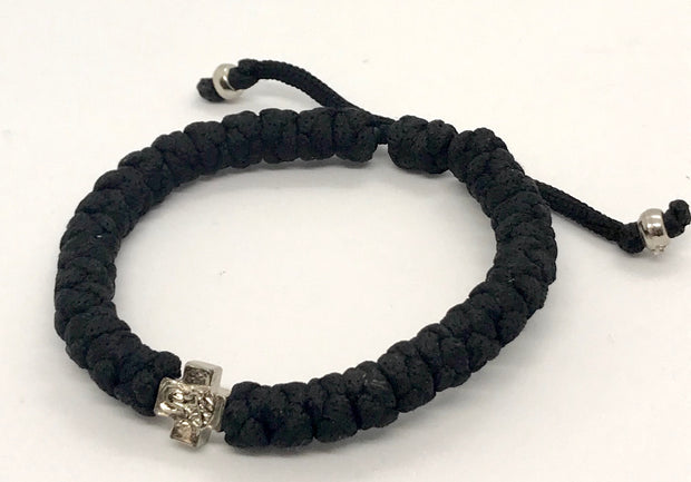 Adjustable Orthodox Black Prayer Rope with 33 Knots - anastasisgiftshop.com