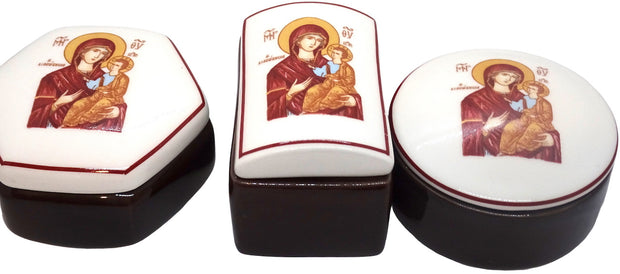 Ceramic Keepsake Box and Orthodox Decorative Incense Holder - anastasisgiftshop.com