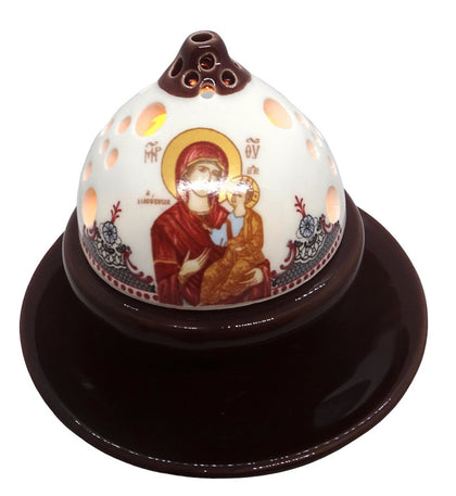 Orthodox Ceramic Oil Burner and Tea Light Candle Holder