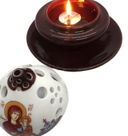Orthodox Ceramic Oil Burner and Tea Light Candle Holder - anastasisgiftshop.com