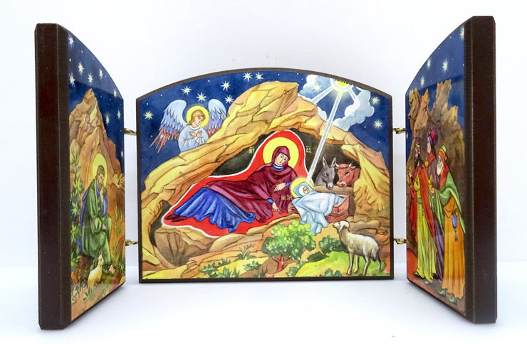 Nativity of our Lord Jesus Christ Wooden Triptych