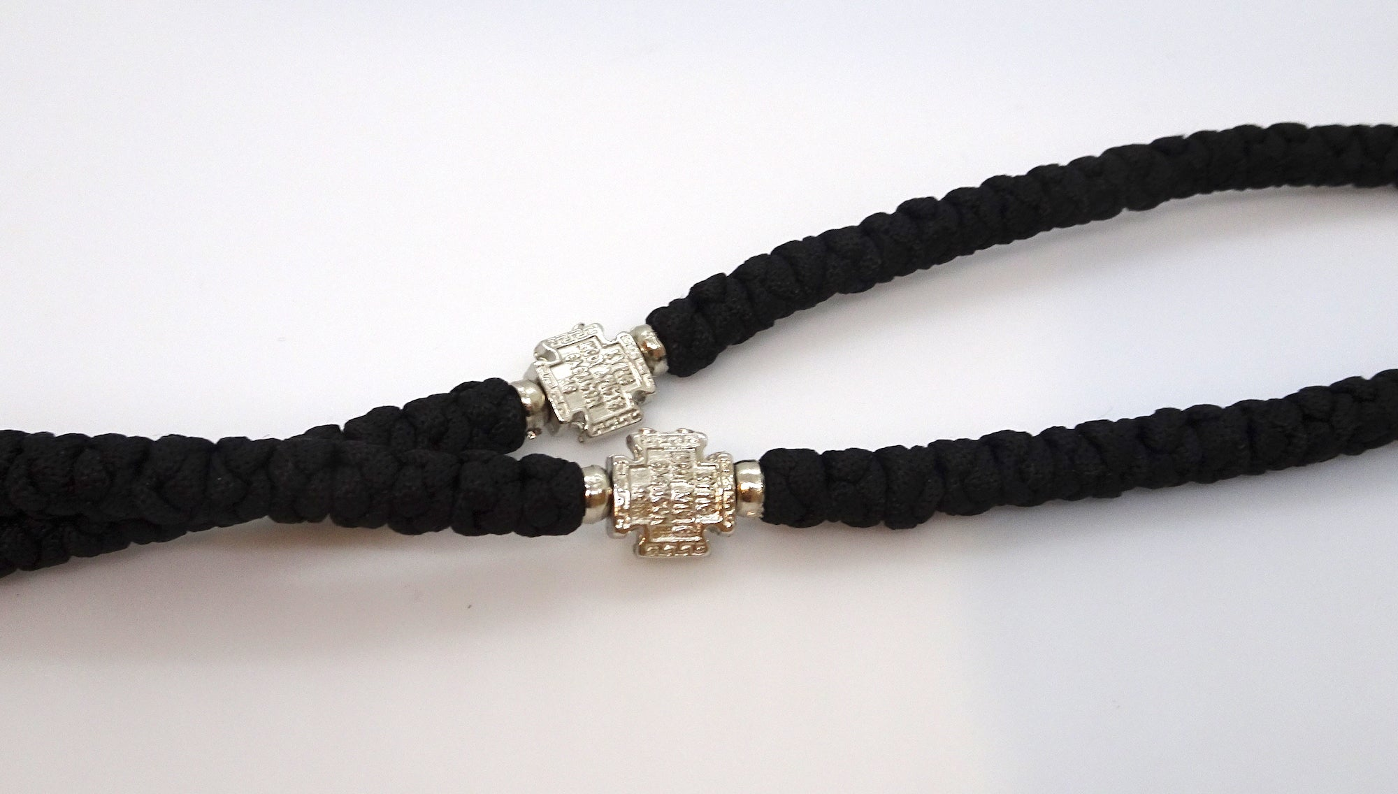 Extra Long Orthodox Prayer Rope with 100 Knots and Tassel in Black Color