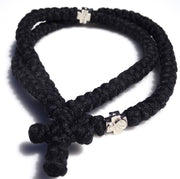 100 Knots Extra Long Orthodox Prayer Rope with Knotted Cross - anastasisgiftshop.com