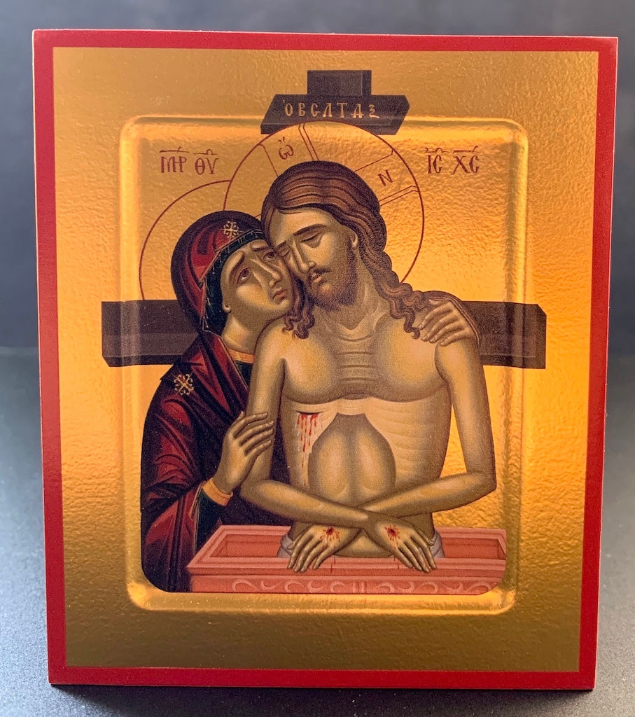 """Do Not Weep for Me o Mother"" Icon of the Mother of God"
