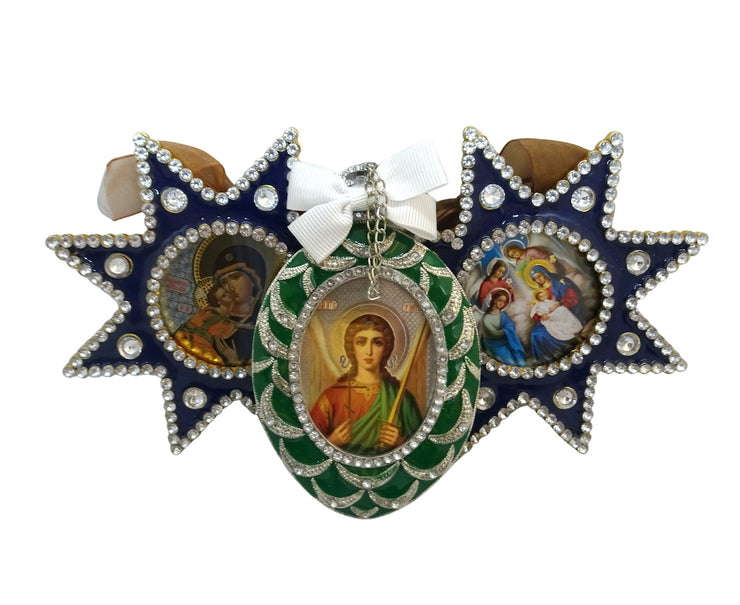 Christmas Tree Faberge Icon Ornaments