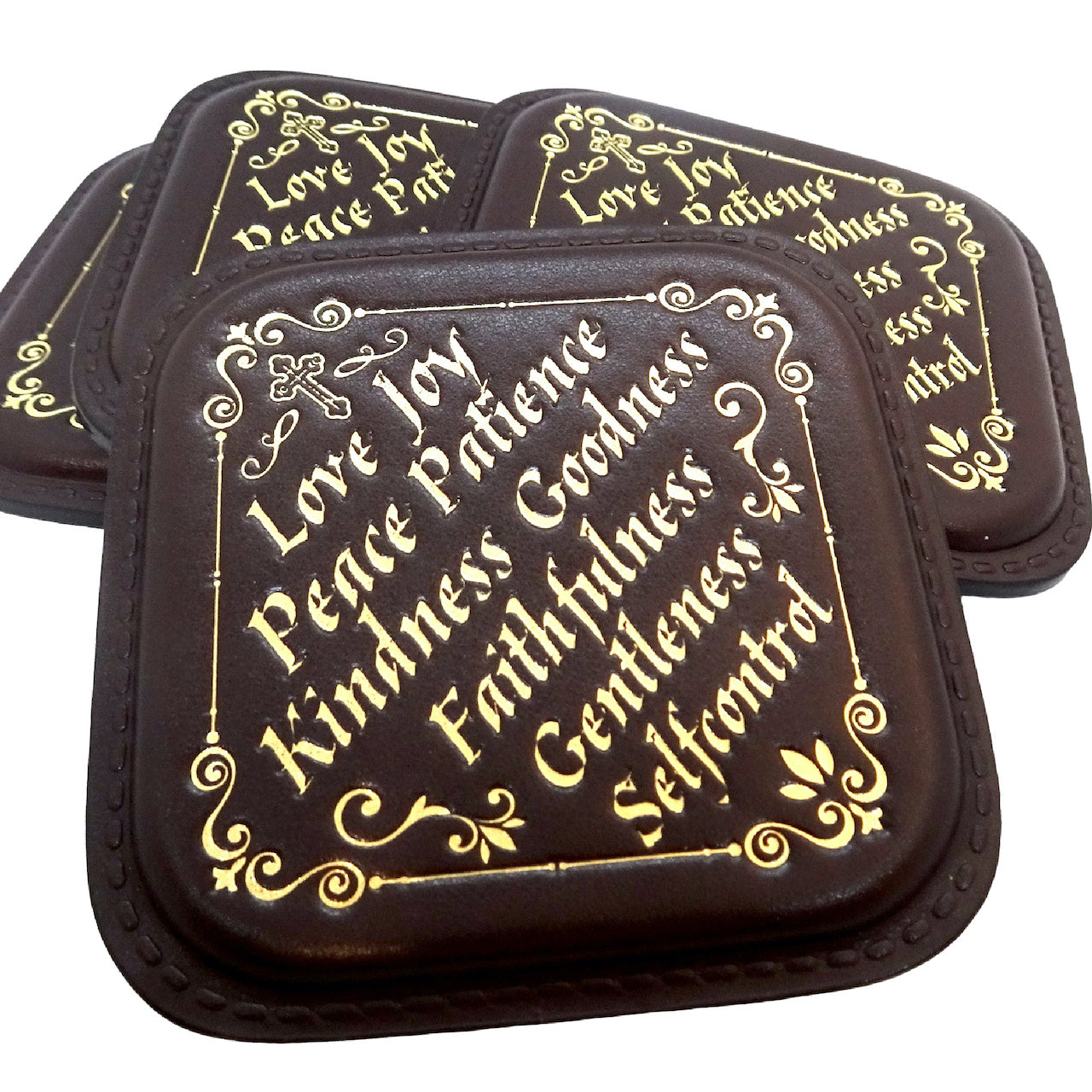Package of 6 Leather Coasters and Gift Box