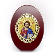 Greek Orthodox Matching Icon Gift Set with the image of Jesus Christ and Holy Theotokos - anastasisgiftshop.com