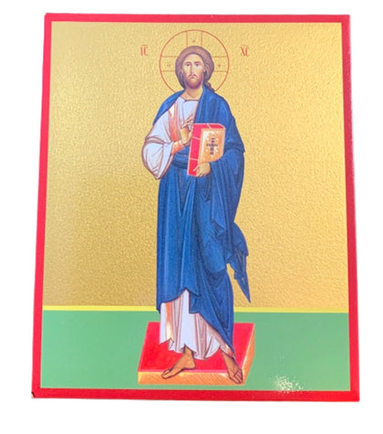 "Orthodox Christian Wooden Icon  of Jesus Christ ""Pantocrator"""