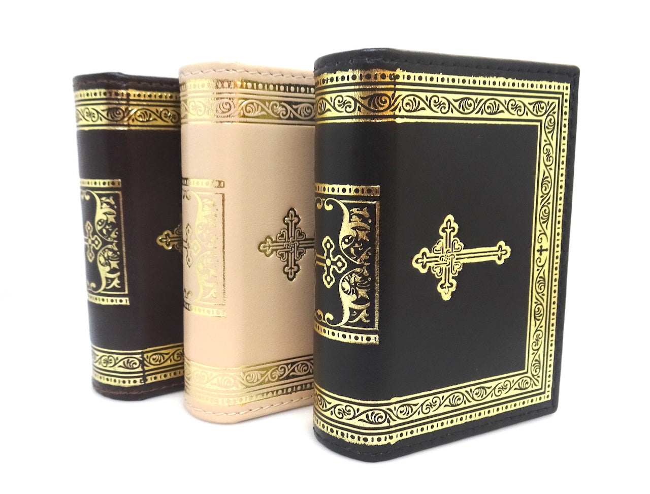 Leather Keepsake Box with Orthodox Christian Cross