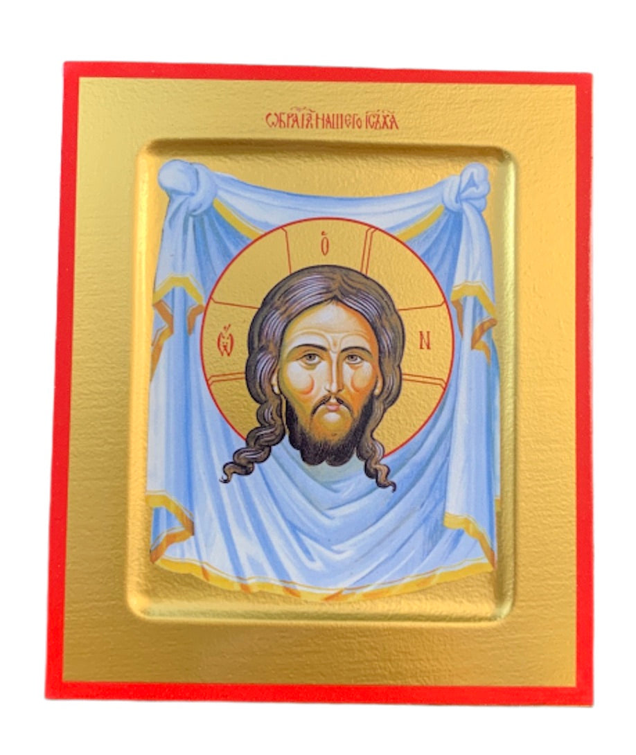 "Orthodox Wooden Icon ""Image Not Made By Hands"""