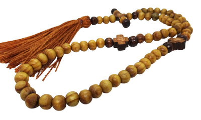 Olive Wood Rosary Prayer Rope with Tassel and 60 Beads - anastasisgiftshop.com