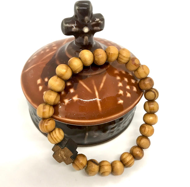 Olive Wood Prayer Bracelet - anastasisgiftshop.com