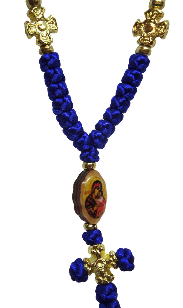 33 knots Orthodox Christian Prayer Rope with Double Side Icons - anastasisgiftshop.com