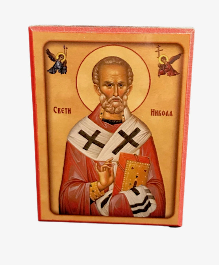 Mini Orthodox Icon of St Nicholas the Wonderworker - anastasisgiftshop.com