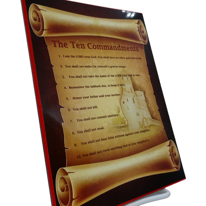 The Ten Commandments Orthodox Wall Plaque and Home Decor