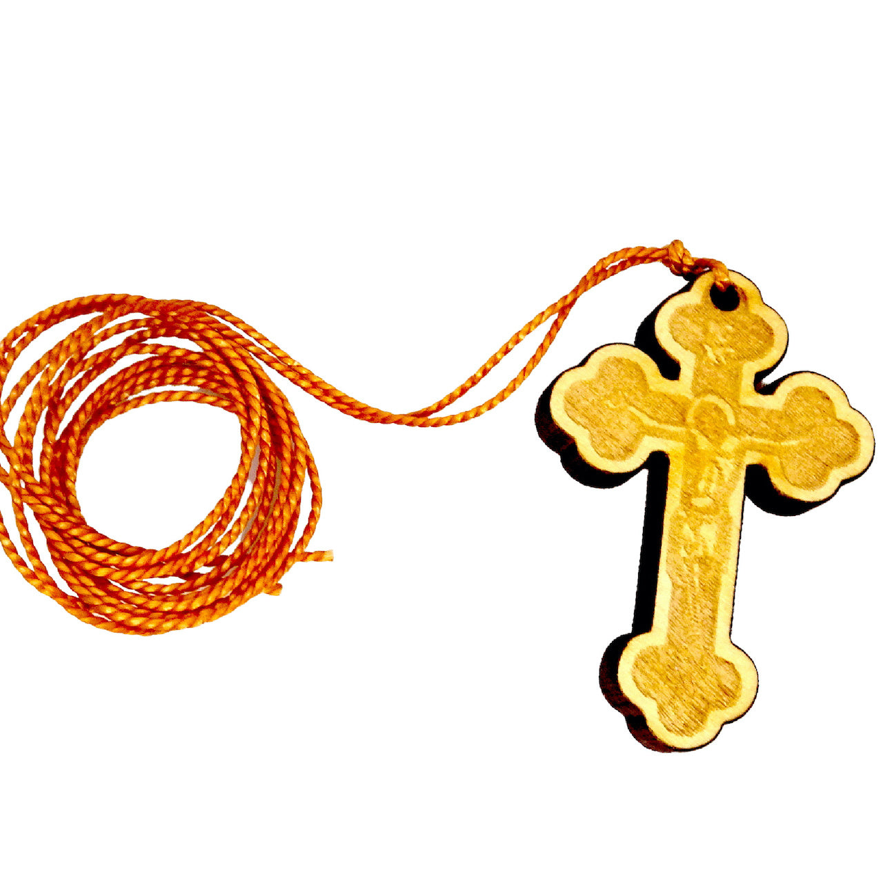 Wooden Orthodox Cross Pendant