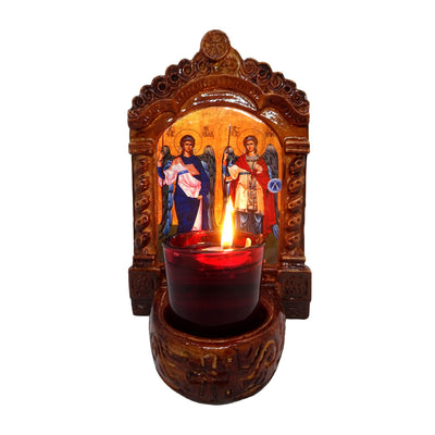 Greek Orthodox Icon Wall and Table Vigil Lamp