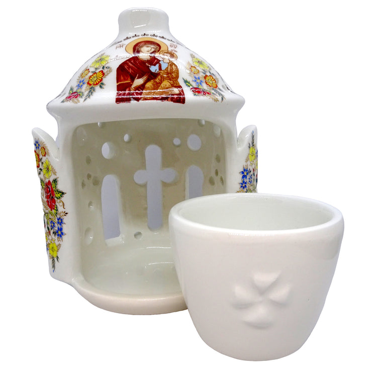 Greek Orthodox Ceramic Vigil Lamp Oil Burner - anastasisgiftshop.com