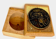 Extra Small Multipurpose Decorative Wooden Box and Incense Container - anastasisgiftshop.com